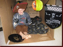 Pirate Jayden in his Ship
