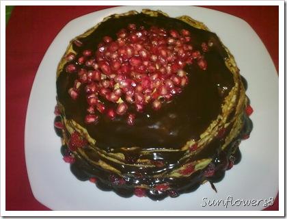 Torre di crepes al cioccolato2