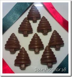 Cioccolatini alberelli ripieni di castagne