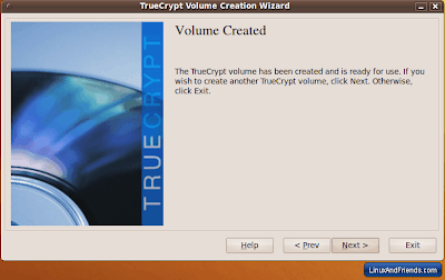 TrueCrypt Volume Created