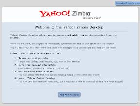 Zimbra Desktop email configuration