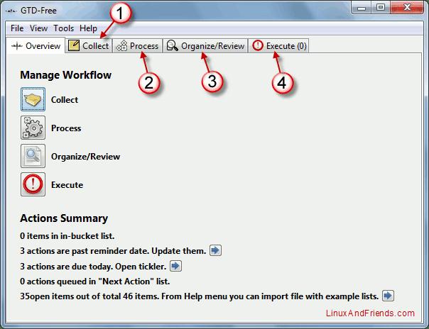 GTD-Free User Interface