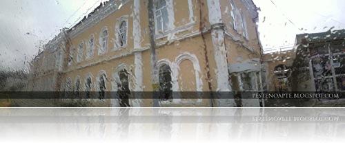 Panorama - Gara din Roman intr-o zi ploioasa