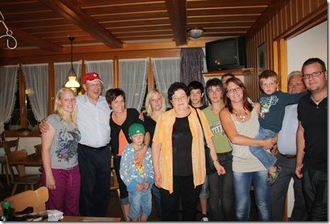 day 4 Schwendiman party (Anina, Dad, Christine, Yves, Severine, Dora, Florian, Rosemarie, Urs, Silvia, Sirio, Ernst, Markus)
