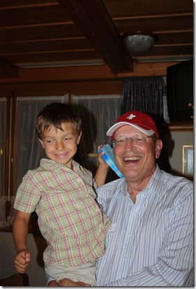 Day 4 Schwendiman party Dad and Jens Heusser (Angelina and Andi's son, Lilli's grandson)