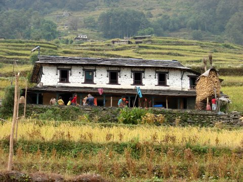 Typical Gurung Village in Ghandruk