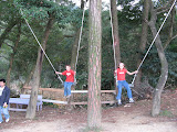 swinging at a recreation farm
