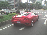 Ferrari 360 Modena on Zhongshan Road in Taipei