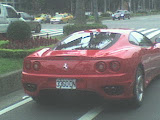 Ferrari 360 Modena (closer) on Zhongshan Road in Taipei