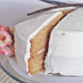Healthy Vanilla Bean Cake with a Classic Vanilla Bean Frosting [1st version]