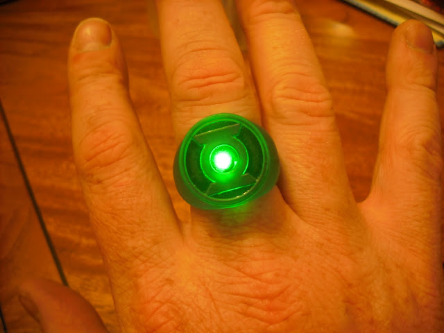 how to make paper green lantern ring