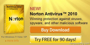 norton 2010 antivirus free license