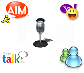 gtalk yahoo msn radio chat