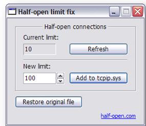 half open torrent speed increase