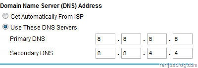 dns address router google public dns