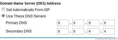dns address router google public dns