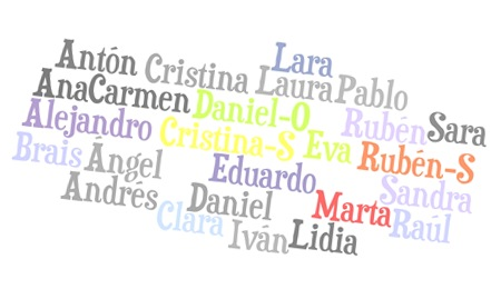 El mosaico de los nombres de 5º B