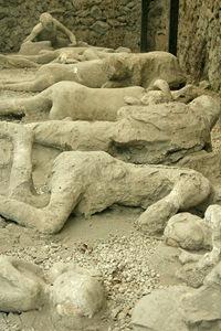 Moldes humanos en Pompeya