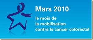 logo mars 2010, le mois de la mobilisation contre le cancer colorectal