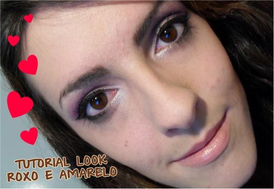 Tutorial:  Look Lilás e Amarelo