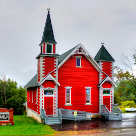 Country Church by Phil Deets - Buildings & Architecture Places of Worship ( red, church, pennsylvania, tioga county, country )