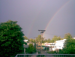 Pretty Raimbow. There are two of them if you see closely.