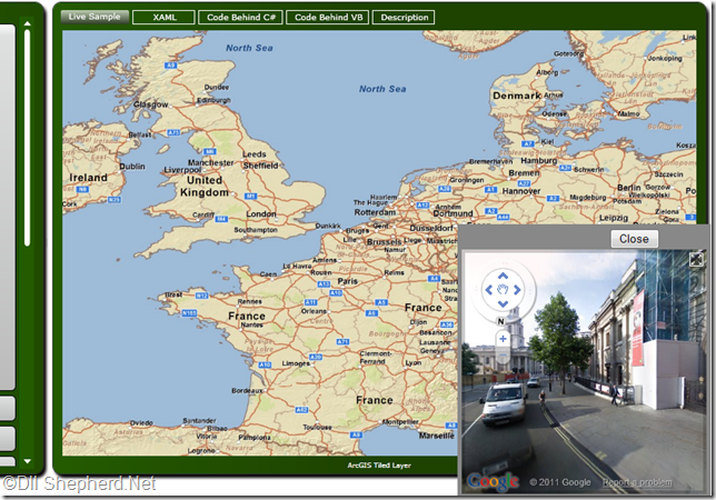 ESRI-silverlight-with-Google-streetview