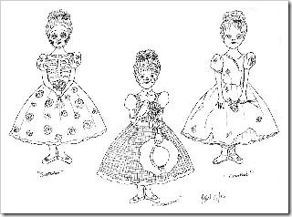 Skeleton, Scarecrow & Zombie Ballerina Ornaments