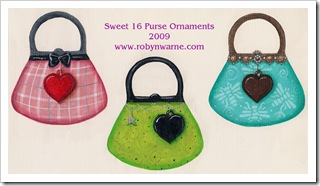 2009 Sweet 16 Ornament Designs