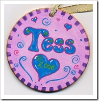 Girl's Name Ornament
