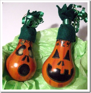 Light Bulb Pumpkin Ornaments