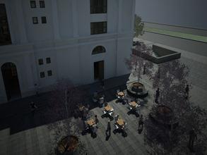 Vista 8 Plaza con mesas