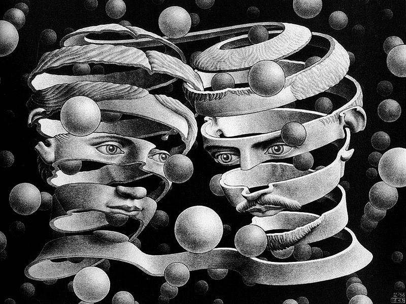 maurits escher, band (bond of union)