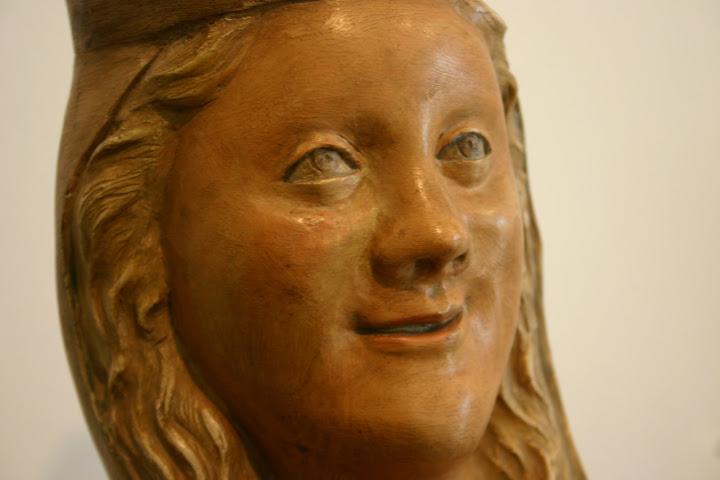 Mare de Déu, anoniem, detail, museum Frederic Marès