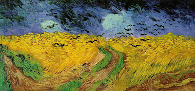 vincent van gogh, wheat field with crows, 1890