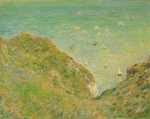 claude monet, cliff at pourbelle
