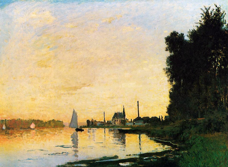 claude monet, argenteuil late afternoon