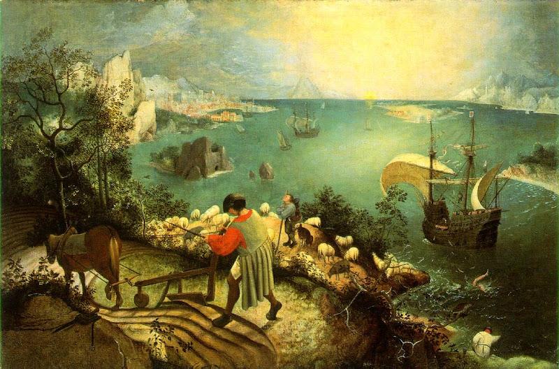 pieter bruegel, landschap en de val van icarus