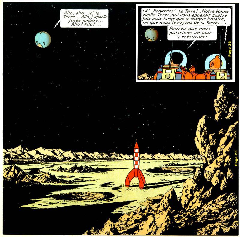hergé, mannen op de maan