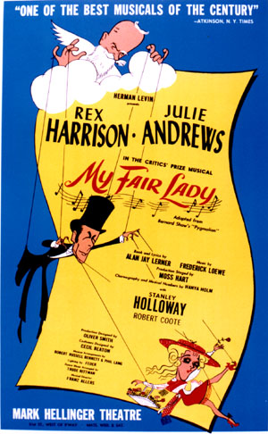 my fair lady, musical poster