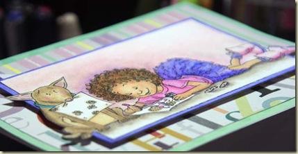 Making Cards closeup