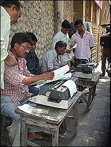 Trabajadores en plena calle