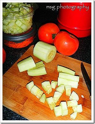 pasta salad prep