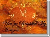 you've brighten my horizen badge