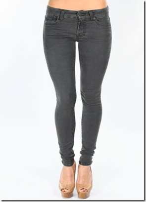 7 For All Mankind Gummy Gwenevere Super Skinny Leggings in Grey