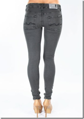 7 For All Mankind Gummy Gwenevere Super Skinny Leggings in Grey 3