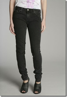 BDG Black Crackle Drain Pipe Jean