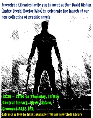 Greenock Public Library comics poster