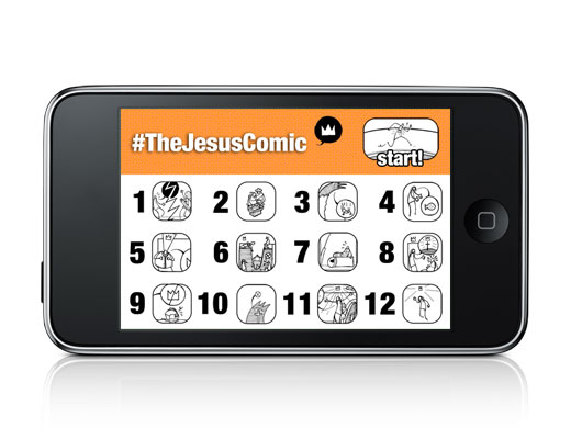 The Jesus Comic Menu