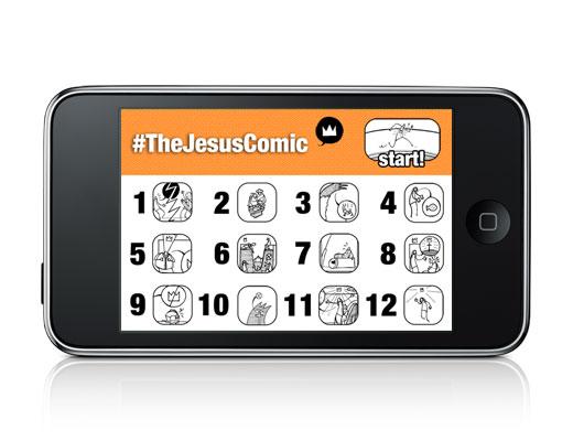 The Jesus Comic Menu